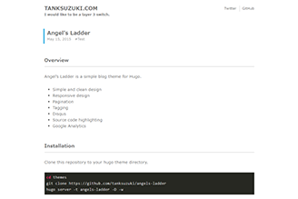 Angel's Ladder is a simple blog theme for Hugo.