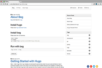 Beg is Twitter Bootstrap based theme.Inspired by Octostrap3.