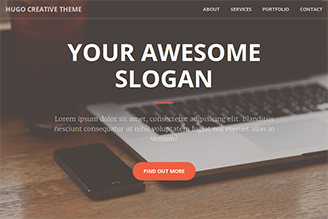 A one page HTML theme for creatives.