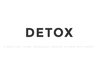 Detox is a beautiful theme, originally designed by Jordan Bowman (@jrdnbwmn).