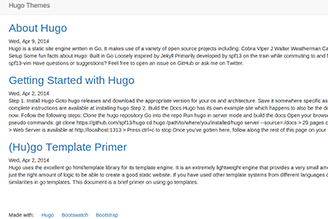 Bootswatch Theme (Bootstrap 3) for Hugo
