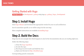 Hugo theme based on Twitter BootStrap and Journal CSS theme