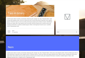 A hugo theme based on Google's Material Design Lite