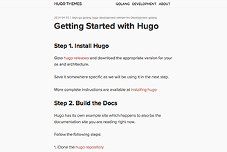 a distraction-free hugo theme