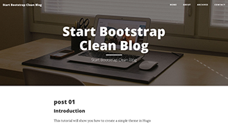 Startbootstrap Clean Blog