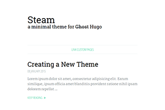 A minimal theme for bloggers.
