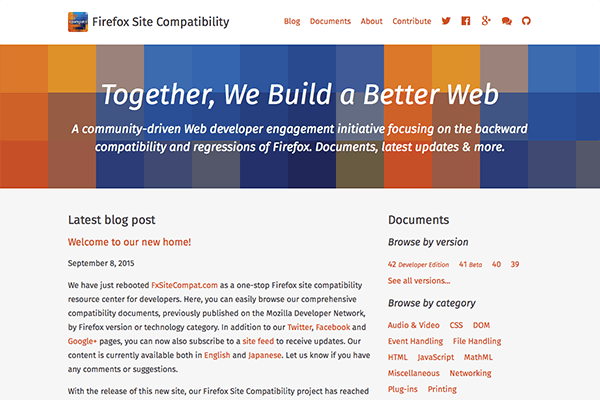 Firefox Site Compatibility