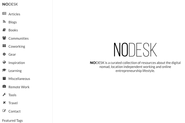 NoDesk | All Things Digital Nomad