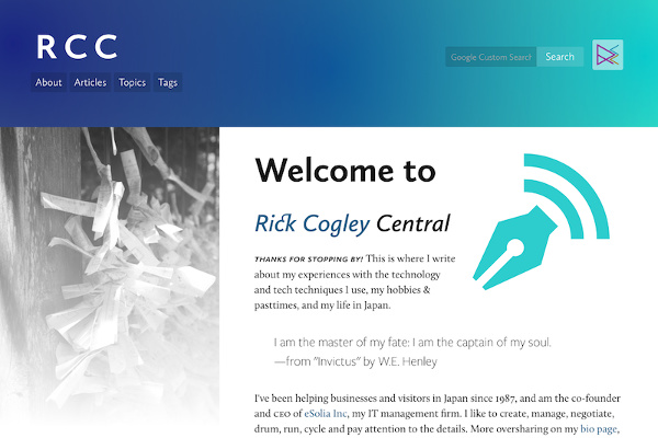 Rick Cogley's personal site, powered by Hugo.